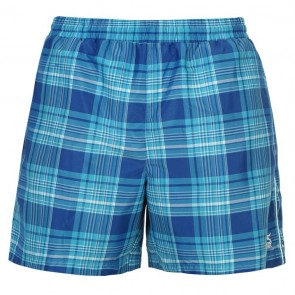 Slazenger Checked Swim Shorts Mens - Blue.