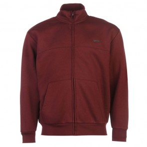 Slazenger Full Zipped Jacket Mens - Burgundy.