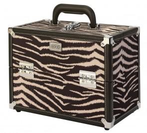SOHO Zebra Print Vanity Case.