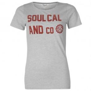 SoulCal Heritage TShirt - Grey Marl.