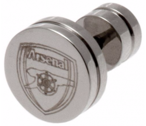 Stainless Steel Arsenal Crest Stud Earring