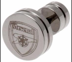 Stainless Steel Arsenal Crest Stud Earring