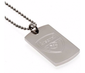 Stainless Steel Arsenal Dogtag and Chain