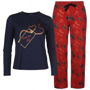 Star Long Sleeve Pyjama Set Ladies - Unwrap Me.