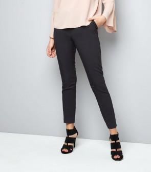 Stretch Slim Leg Trousers - Black.