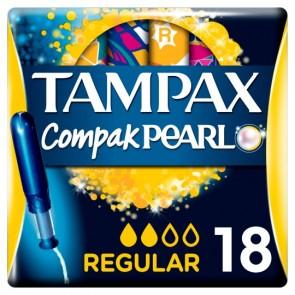 Tampax Compak Applicator Regular Tampons 18 Pack.