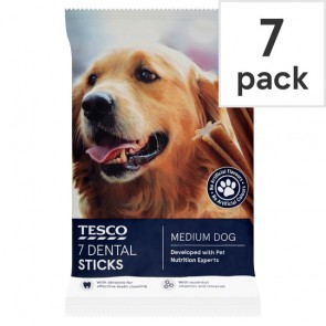 Tesco 7 Dental Sticks Medium Dog 180G