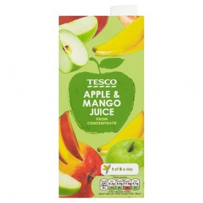 Tesco Apple And Mango From Concentrate 1 Litre.