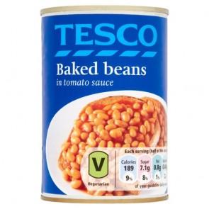 Tesco Baked Beans In Tomato Sauce 420G