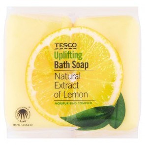 Tesco Bath Soap Lemon 4 X 125G.