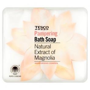 Tesco Bath Soap Magnolia 4X125g.