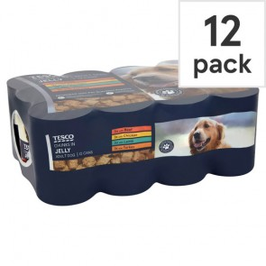 Tesco Chunks In Jelly Tinned Dog Food 12X400g