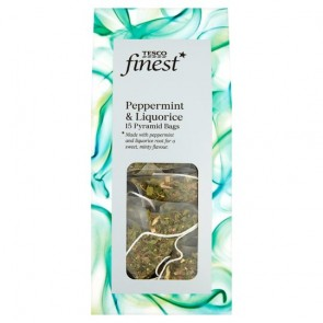 Tesco Finest Peppermint & Liquorice Tea Pyramid 15S 30G