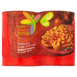 Tesco Healthy Living Baked Beans In Tomato Sauce 4X420g.