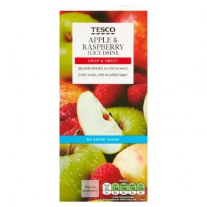 Tesco Juice Drink Apple & Raspberry 1 Litre