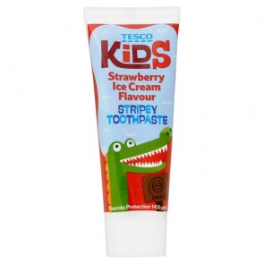 Tesco Kids Strawberry Toothpaste 75Ml.