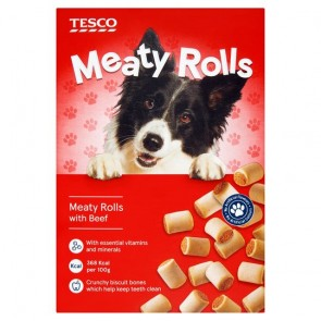 Tesco Meaty Rolls Treats 500G