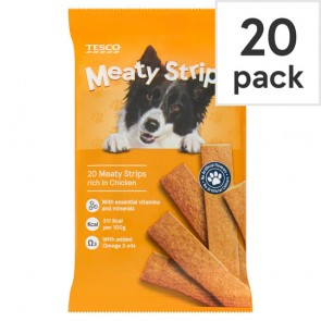 Tesco Meaty Strips For Dogs Chicken 200G
