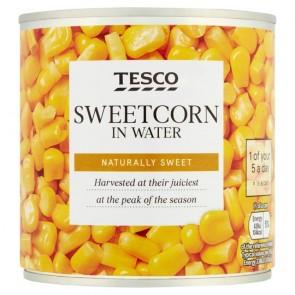 Tesco Natural Sweet Sweetcorn In Water 325G