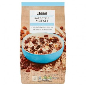 Tesco No Added Sugar Swiss Style Muesli 1Kg