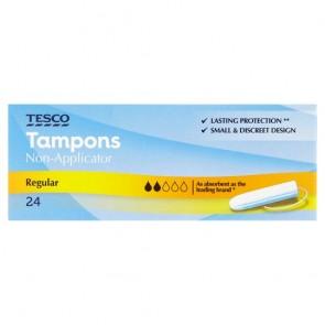 Tesco Non Applicator Regular Tampons 24 Pack.