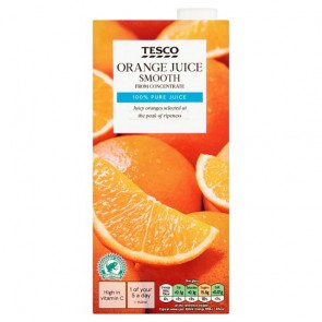 Tesco Orange Juice Smooth 1L