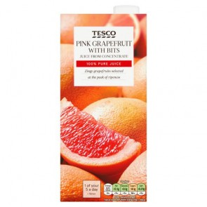 Tesco Pink Grapefruit Juice 1 Litre