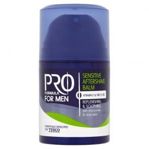 Tesco Pro Formula Sensitive Aftershave Balm 50Ml.
