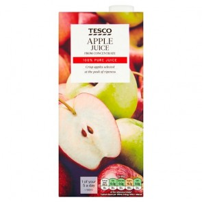 Tesco Pure Apple Juice 1L