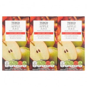 Tesco Pure Apple Juice 3X200ml