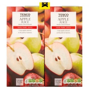 Tesco Pure Apple Juice 4 X 1 Litre