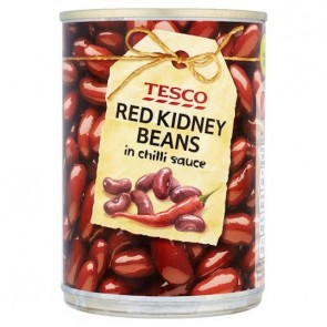 Tesco Red Kidney Beans Chilli Sauce 395G.
