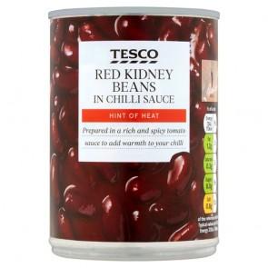 Tesco Red Kidney Beans In Chilli 390G