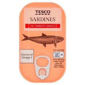 Tesco Sardines In Tomato Sauce 120G
