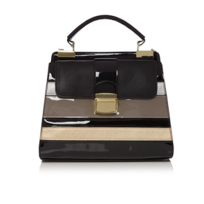 Therapy Dhalia Triple Compartment Handbag - Black.