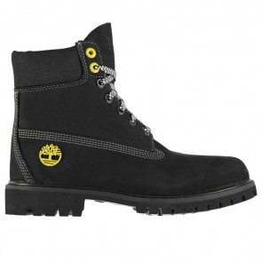Timberland 6 Inch Premium Boots - Black/Gold.