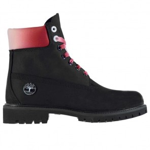 Timberland 6 Inch Premium Boots - Black/Red.