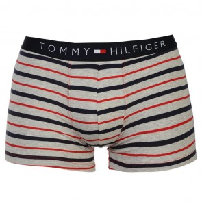 Tommy Hilfiger Stripe Trunk - Gry/Red/Navy.
