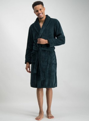 Green Super Soft Dressing Gown