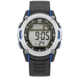 Umbro LCD Black Plastic Strap Watch