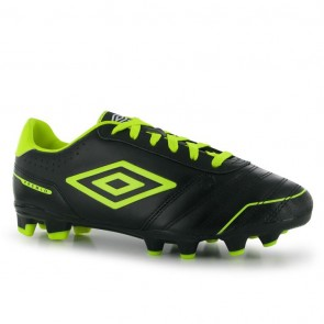 Umbro Premio FG Mens Football Boots -Black/Yellow.