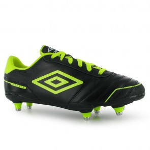 Umbro Premio Soft Ground Mens Black/Yellow.