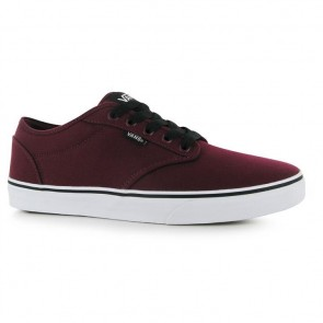 Vans Atwood Canvas Trainers - Burgundy/White.