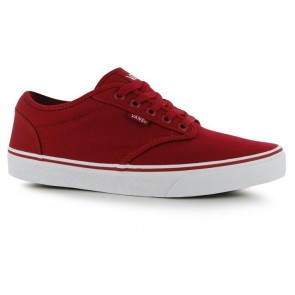 Vans Atwood Canvas Trainers - Red/White.