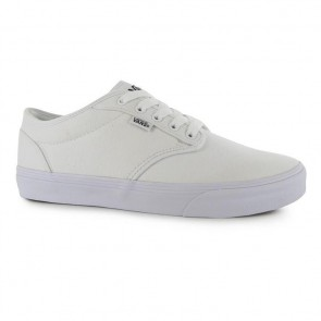 Vans Atwood Canvas Trainers - White/White.