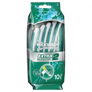 Wilkinson Sword Extra 2 Sensitive Disposable Razor 10 Pack.