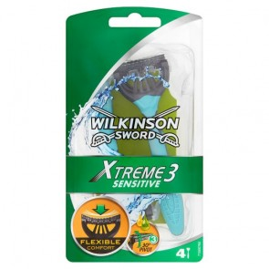 Wilkinson Sword Xtreme 3 Sensitive Razor 4 Pack.