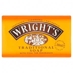 Wrights Traditional Soap With Coal Tar Fragrance 125G.