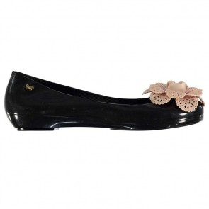 Zaxy Pop Garden Ladies Shoes - Black/Ivory.