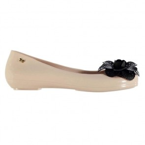 Zaxy Pop Garden Ladies Shoes - Ivory/Black.